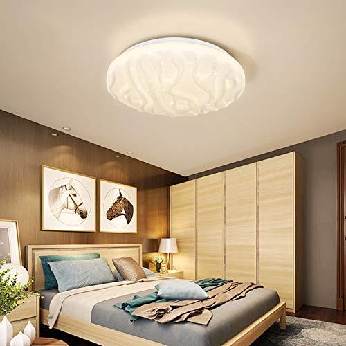 Deckenleuchte LED Badezimmer Küche Schlafzimmer LED Lampe Decke Wohnzimmer Esszimmer Studie Balkon Flur Bad Moderne Runde Wasserdichte Deckenleuchten Natürliches Weiß 4000K 1500lm 18W LUSUNT