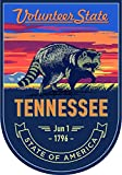 State Animal Tennessee Night 4x5.5 inches Sticker Decal die Cut Vinyl - Made and Shipped in USA