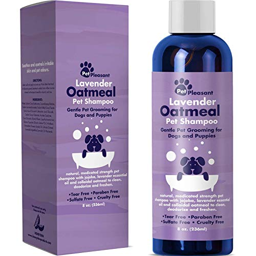 Natural Dog Shampoo with Colloidal Oatmeal - Puppy Shampoo for Dog Bath with Lavender Essential Oil Dog Wash - Pet Odor Eliminator Dog Shampoo for...