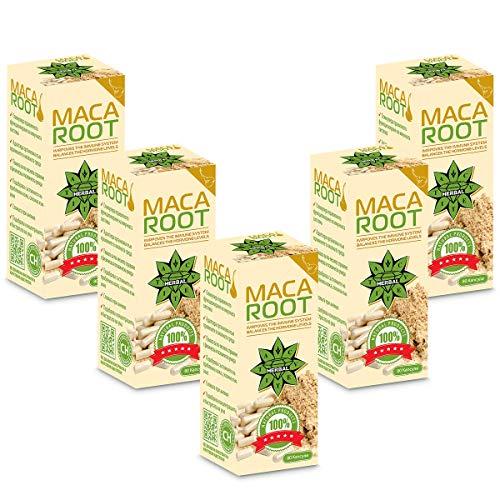 Cvetita Herbal, raíz de maca cápsulas en polvo, aumenta los niveles de energía y aumenta la vitalidad, balanzas hormonas, cambios de humor, mejora la libido