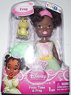 My First Disney Princess Petite Tiana Toddler Doll and Frog Figure 6 Inches