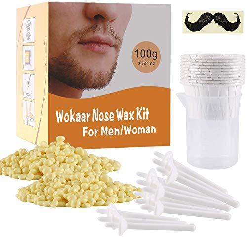 B ozhiwei Nasenhaar Wachs Nose Wax Nasenwachs Entfernen mit Natürlicher Nasenhaarentferner Sticks Herren Sicher Schnell Schmerzfrei 100g / 10-20 mal für die Verwendung