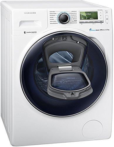 Samsung WW12K8402OW/ EG Waschmaschine FL / A+++ / 141 kWh / Jahr / 1400 UpM / 12 kg / Add Wash / WiFi Smart Control / Super Speed Wash / Digital Inverter Motor
