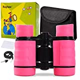 Rayhee Rubber 4x30mm Toy Binoculars for Kids - Bird Watching -...