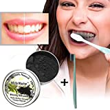 JPJ(TM) NewTeeth Powder1pcs Hot Fashion Teeth Whitening Natural Organic Activated Charcoal Bamboo Powder with Toothbrush (Multicolor)