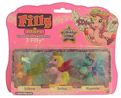 Filly Dracco Glitzer Stars 3er-Set Spiel- und Sammelfiguren für Kinder (Libra, Aries, Hypnia)