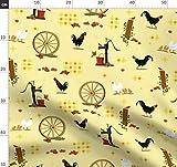 Land, Küche, Nutztiere, Hahn, Hühner, Americana, Cowboy