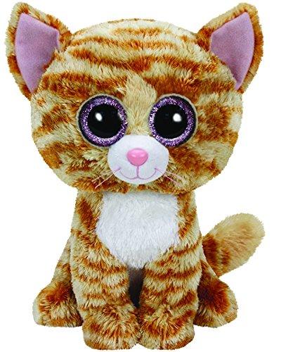 TY 37034 - Tabitha Buddy gescheckte Katze mit Glitzeraugen, Glubschi's, Beanie Boo's, Large, 24 cm