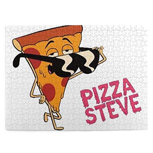 Pizza Steve Gafas de Sol Rompecabezas con Imagen 500 Piezas de Juego de Madera Rompecabezas Adultos Niños Decoración del hogar 20.4x15 (Pulgadas)