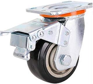 Caster 1PCS 4 Inch Flat Trolley Casters Heavy Duty Wear Mute Caster Office Furniture Caster Industrial Wheel Universal Bra...