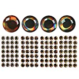 wifreo 400pcs/pack 3mm 3D Fish Lure Eyes Fly Tying Epoxy Fish Eyes Streamer Fly Tying Material (9mm)