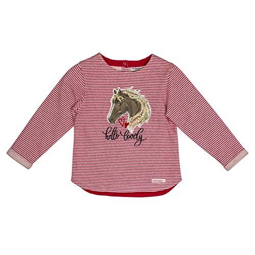 Salt & Pepper Mädchen Horses Hello Lovely Pferdekopf Sweatshirt, Rot (Cherry Red 337), 104 (Herstellergröße: 104/110)