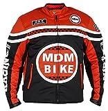 MDM Textil Motorradjacke (XL, Schwarz/rot)