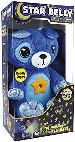 Ontel Star Belly Dream Lites Stuffed Animal Night Light Cuddly Blue Puppy product image