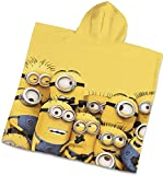 Capa de bao de terciopelo para nios  Poncho toalla (Minions  Amarillo)