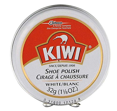 KIWI White Shoe Polish and Shine   Leather Shoe Cleaner for Dress Shoes and Boots   Carnauba Wax   1 1/8 Oz
