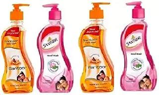 Santoor Sandalwood & Lotus Handwash 215ml- Pack Of 4 Hand Wash Pump Dispenser (4 x 215 ml)
