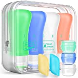 Silicone Travel Bottles Set,Leak Proof Travel Size container For Toiletries,Leak Proof Silicone Travel Accessories And Conditioner Bottles ,Perfect For Personal Travel (Green)