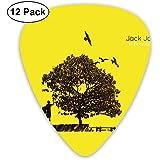 Púas de guitarra Jack Johnson In Between Dreams (paquete de 12) para guitarra eléctrica, guitarra acústica, mandolina y bajo de guitarra