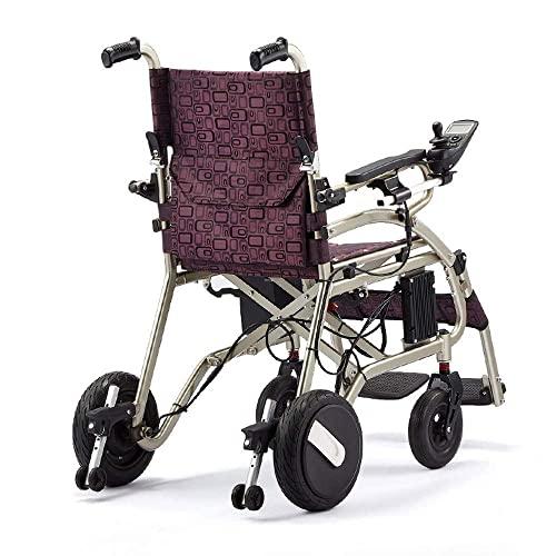 WBJLG Silla de Ruedas Multifuncional para Personas Mayores discapacitadas, Silla de Ruedas eléctrica Plegable Ligera, Scooter, rotación del 360%, Adecuado para la Multitud: Personas Mayores/Disc