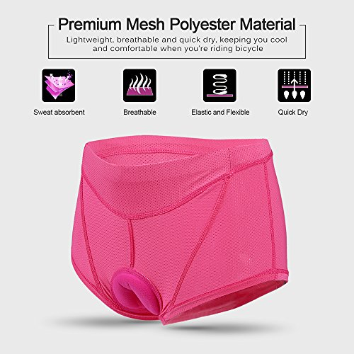 Lixada Damen Unterhose Radsport Underwear Pants Gel 3D gepolsterte Bike Fahrrad - 6