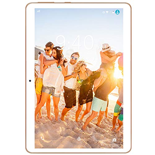4G LTE Tablette Tactile 10 Pouces Android 9.0 Pie YOTOPT, 64Go, 4Go de RAM Tablette Dual SIM GPS, WiFi, Bluetooth, Type-c (Or)