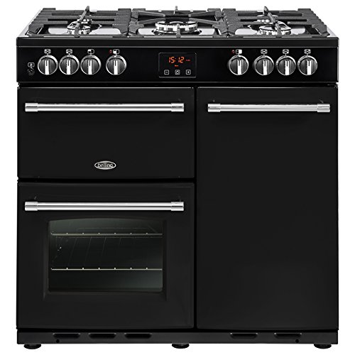 Belling Farmhouse 90 DFT Black Gas Cooker Range – Ovens and Cookers