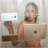 17 Pocket Shower Curtain Liner - Holds Your iPad, Phone, Tablet or Baby Monitor. Completely Waterproof. Thick EVA 72x72