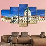 5 Lienzo arte de la pared Palacio de CharlottenburgBerlín Cuadro de pintura Fondos de pantalla modulares Sala de estar moderna Decoración del hogar Mural Cartel de impresión en HD 150X80