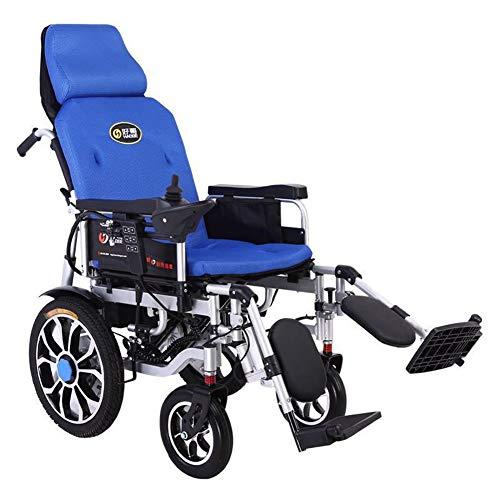 Wheelchair Silla De Ruedas Eléctrica Completamente Tumbada, Sillas De Ruedas Eléctricas O Manuales, Silla De Scooter Motorizada Eléctrica Plegable Ultraportátil, para Ancianos