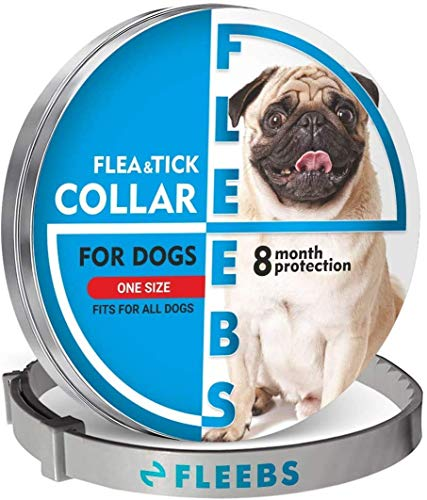 Dog Collar, Adjustable Collar for Dogs Small and Large, Waterproof, Natural Dog Treatment, Prevention for Dogs Collar