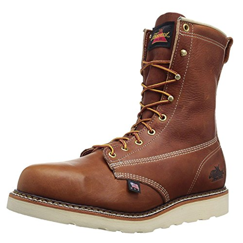 "Thorogood American Heritage 8"" Plain Toe Boot, Tobacco Gladiator, 13 D US"