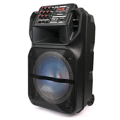 "Ridgeway 12"" Rechargeable Bluetooth Party DJ Speaker Multi-Lights 3600m Ah Batteries Powerful 3200 Watts Speaker"