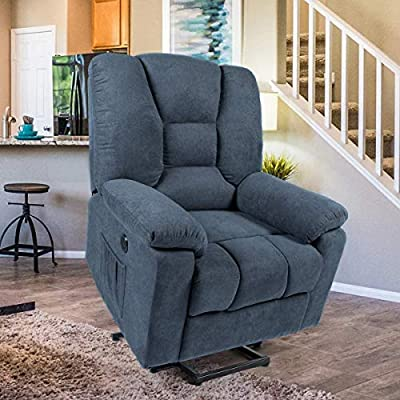 Esright Electric Recliner Power Lift Chair for Elderly Heated Vibration Sofa Motorized Living Room Chair with Massage Remote Control