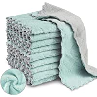 20-Pack Super Absorbent Microfiber Cleaning Cloth for Cleaning Dishes (Grey & Green)
