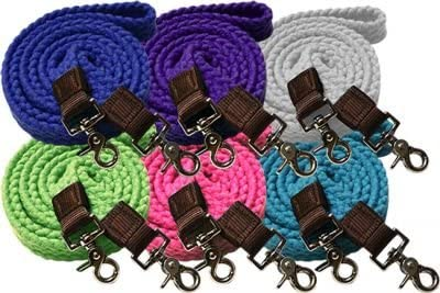Showman Max 78% OFF 7.5' Braided Price reduction Cotton Roping Reins on E with Scissor Snaps