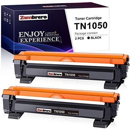 Zambrero Compatibile Toner TN1050 Sostituzione per Brother TN-1050 TN1050 Cartuccia Toner per Brother DCP-1612W DCP-1512 DCP-1510 1610W HL-1110 HL-1212W HL-1112 HL-1210W MFC-1910W MFC-1810 (2 Nero)