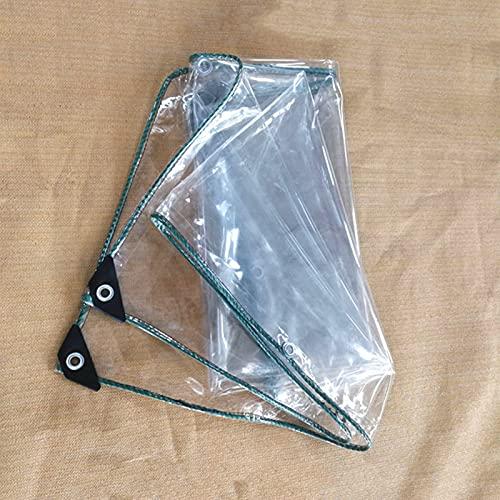 MDCG Trasparente telone 440g/㎡ Pellicola di plastica Chiaro Teloni Antipioggia capannone Protezione Panno Antipioggia (Color : Chiaro, Size : 0.9x1.9m)