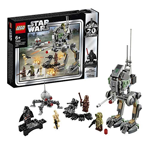 LEGO 75261 Star Wars Clone Scout Walker-20th Anniversary Edition Set, at-RT Walker, Dwarf Spider Droid, Colourful