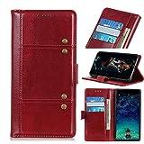 NEINEI Funda para Xiaomi Redmi Note 10 5G,Carcasa Libro de Cuero con [Soporte][Ranura para Tarjeta][Magnético],Diseño de Cuentas de Cobre,PU/TPU Flip Phone Cover Case,Negro