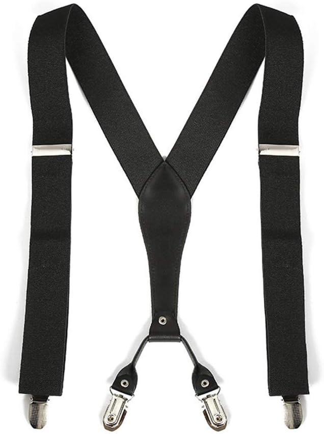 Canvas Belt Unisex Suspende X-Back Adjustable Clip (Color : Black, Size : Free Size)