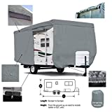 SavvyCraft Deluxe Travel Trailer Camper Cover w/Access Panels Fits 16'-17'L