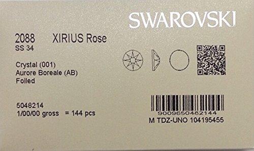 34ss Crystal AB 144 Swarovski #2088 XIRIUS Rose Flatback Rhinestones Wholesale Full Pack