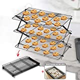 🍪 3 TIER COLLAPSIBLE & EXPANDABLE RACK DESIGN: Arbelle Cooling Rack features a 3 tier cooling rack all in one solid set at the convenience of being easily folded & expanded. Our convenient cooling rack consists of three racks, all part of one entity,...