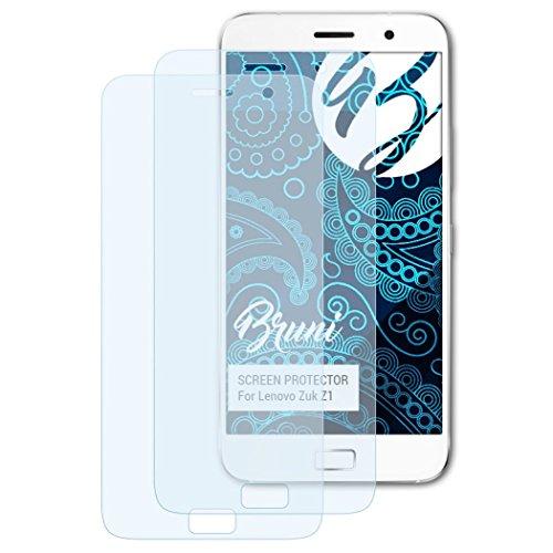 Bruni Schutzfolie kompatibel mit Lenovo Zuk Z1 Folie, glasklare Bildschirmschutzfolie (2X)