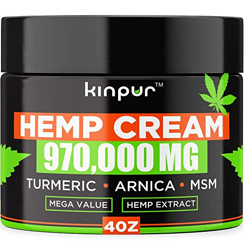 Natural Hemp Cream for Pain Recovery with Arnica, Hemp Emu Oil - Hemp Pain Cream for Arthritis, Joints, Back - Best Inflammation Cream & Pain Lotion