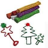 120 pezzi colorati Craft Pipe Cleaners 12 colori Bump Chenille steli per creativi fatti a mano fai da te e progetti artistici, regali di Natale