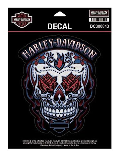 Harley-Davidson Muertos Skull Decal, MD Size - 5.25 x 6.375 inches DC300843
