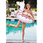 """Llama Pool Float Ride On Party Toys Alpaca Inflatable Swimming Ring Fiesta Water Supplies - for Adults or Kids 12 This llama ride-on float is a adorable addition to your pool party this summer. Made of premium polyvinyl chloride.Soft,durable and thick material. Measurement :41"""" X 37"""".Perfect for swimmers of all sizes and rated at 400 pounds."""