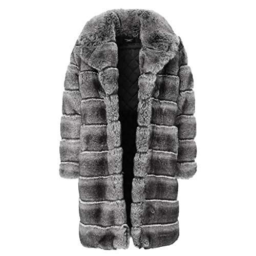 Jordan Craig Don Juan Faux Fur Coat (Chinchilla) Black